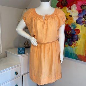 Talbots Peach silk dress NWT 🍑